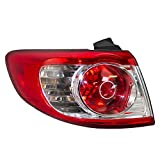 Drivers Taillight Tail Lamp Replacement for 10-12 Hyundai Santa Fe SUV 92401-0W500