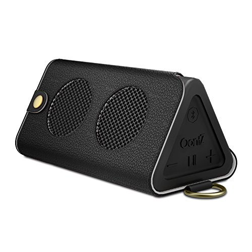 MoKo Carrying Case for OontZ Angle 3, Portable Speaker Cover PU Leather Protective Bag Sleeve Skins, with Holding Strap & Carabiner, BLACK (Not fit OontZ Angle 3 Plus / 3XL, OontZ XL/ Angle)