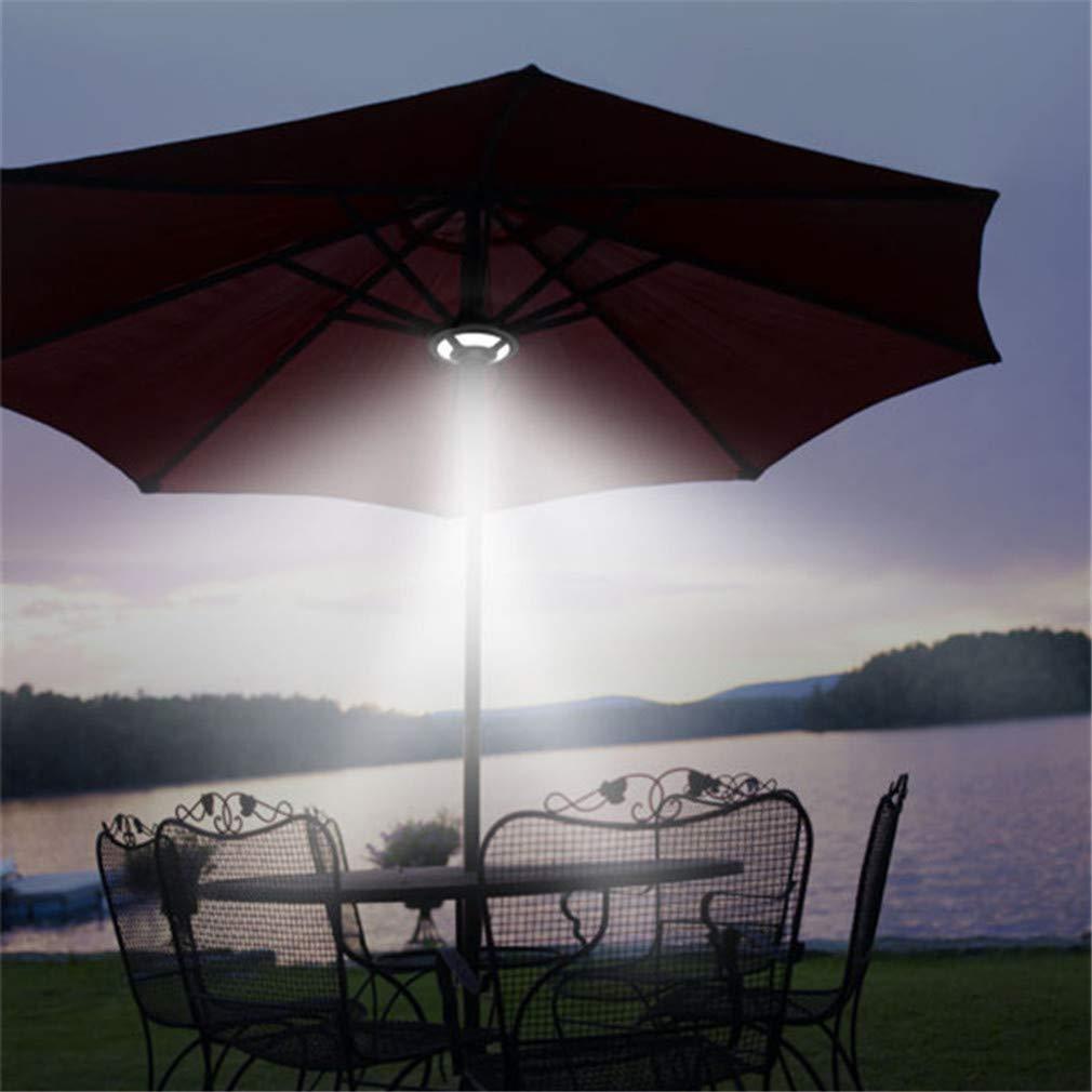 Solar Umbrella Lights 36 LED 2 Brightness Mode Patio Light for Camping Tents Outdoor Travel