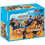 Playmobil - 5249 - Jeu de Construction - Soldats Américains avec Canon