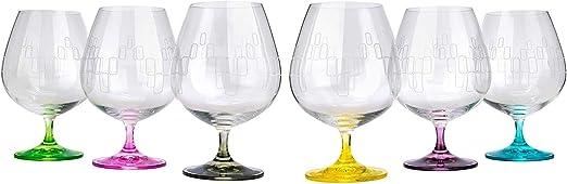 Ghoram crystal brandy glass 3 34 high
