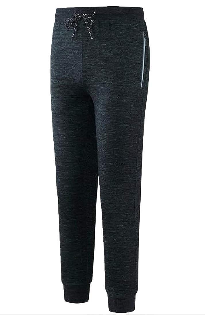 Joe Wenko Men Fall Elastic Waist Cotton Sports Running Sweatpants Jogging Pants