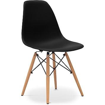Privatefloor DSW Stuhl Inspired By Charles Eames Matt Bakelit Schwarz