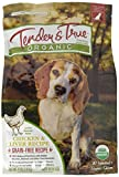 Tender & True 854003 Organic Chicken & Liver Recipe 4 lb Dry Dog Food, One Size