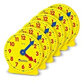 Toys : Learning Resources Gear Clock, 4 Inch, Teacher Helper, Classroom Accessories, Set of 6, Ages 5+