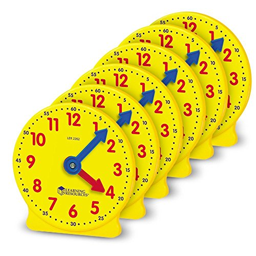 Learning Resources 10cm Geared Mini-Clocks
