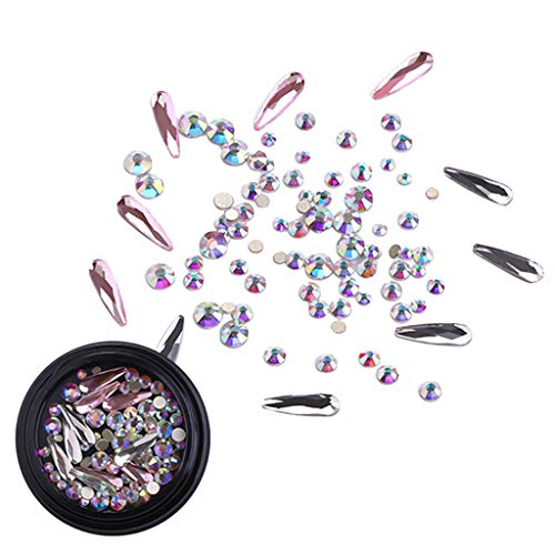 utda.sh-fs women's nails Nail Art Powder Mixed Luxury Square Drill Mirror Vibrato Nail Flat Drill Shaped Nail Mesh Holographic Laser Rainbow Diamond (C)]()