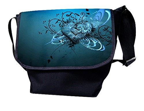 Luxburg® - Bolso al hombro para mujer multicolor bandera de usa azul/corazon