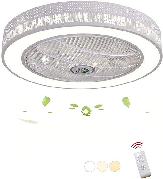 MYXMY Ventilador de Techo Luz LED de Techo con Control Remoto ...