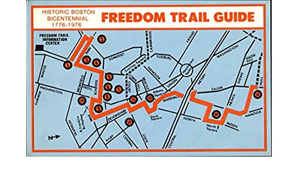 Amazon The Freedom Trail Boston Massachusetts Original Vintage