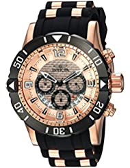 Invicta Mens Pro Diver Quartz Stainless Steel and Polyurethane Diving Watch, Color:Black (Model: 23711)
