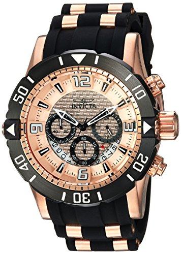Dial Gunmetal Ss Case - Invicta Men's 'Pro Diver' Quartz Stainless Steel and Polyurethane Diving Watch, Color:Black (Model: 23711)