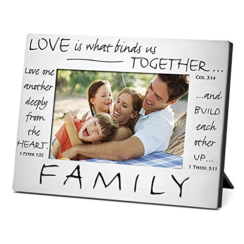 Lighthouse Christian Products Classic Metal Family Frame, 4 x 6 ()