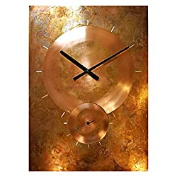 Oversized 30-inch Copper Wall Clock - Rustic Farmhouse Art Decor 7th Anniversary Gift - for Home Kitchen Living Room