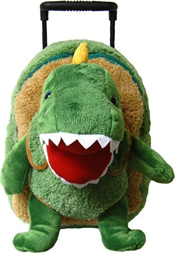 Kreative Kids Adorable T-Rex Rolling Backpack w/ Removable Stuffed Toy & Wheels 【You&Me】 [並行輸入品] B07BNWBDX1