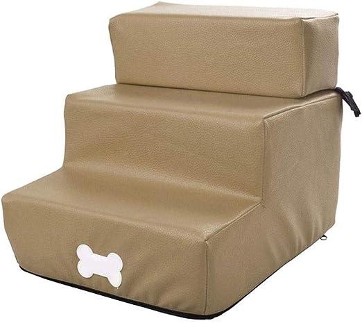 Rclt Escaleras for Mascotas Pasos Color Camel con Tapa Desmontable ...