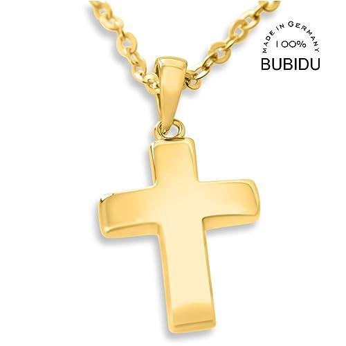 Goldkreuz Kette Kreuz Schlicht Kreuzkette Kinderkette