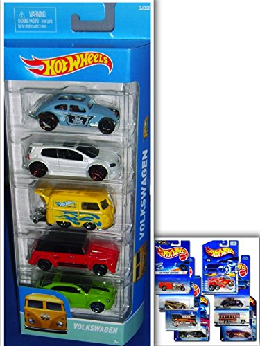 Hot Wheels VW Showdown Bundle: 5 Pack: Volkswagen Golf GTI, Volkswagen Custom Beetle, Volkswagen Kool Kombi, Volkswagen Type 181, Volkswagen Bleetle & 1 Hotwheels Die Cast Metal (Abc 13 Days Of Halloween)