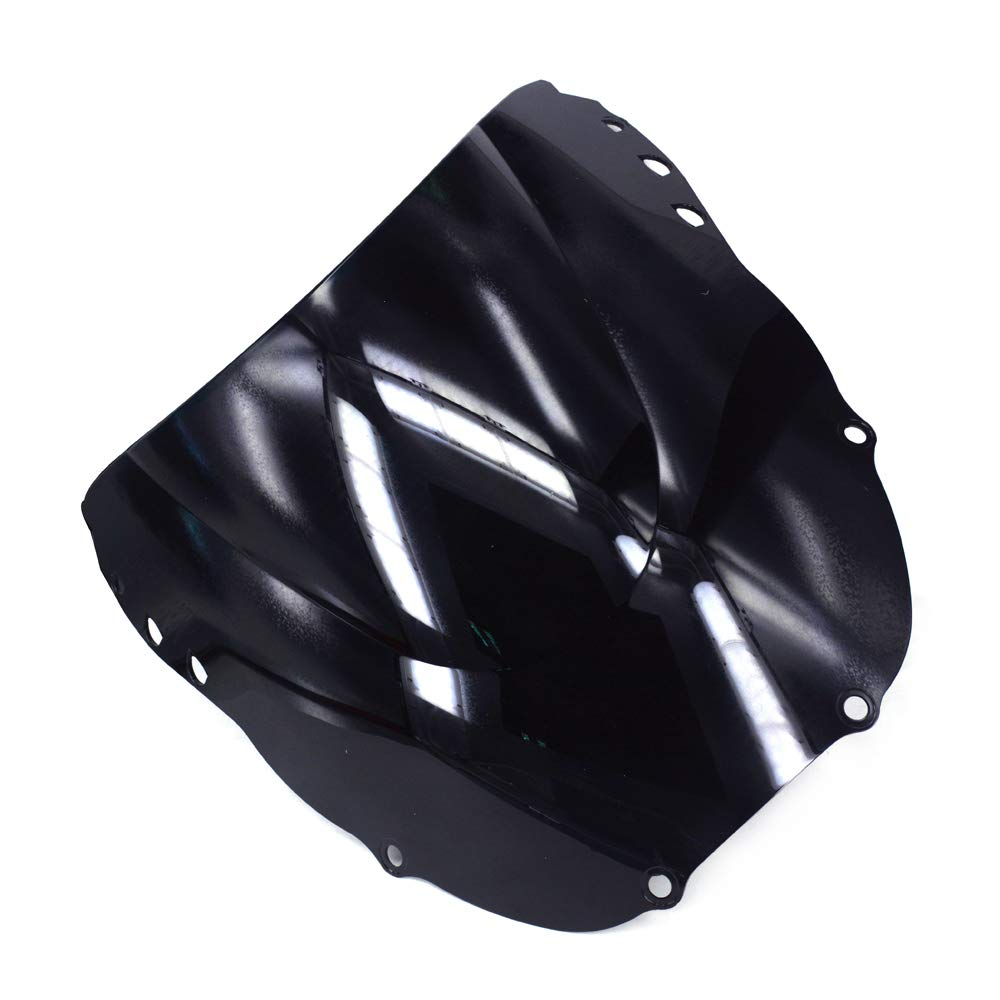 AnXin Black Windshield Windscreen Screen DOUBLE BUBBLE For Honda CBR600 F3 95-98 96 97