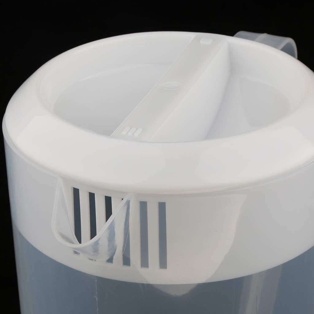perfk Pichet en Plastique Tasse /à Mesurer Coupe avec Couvercle pour Jus Lait Eau 2.5L Capacit/é Rose