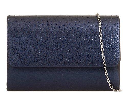 Evening Bag Purse Handbag Bag Envelope Women's KH729 Style Navy Designer Gem Ladies Clutch q0ZRT0x