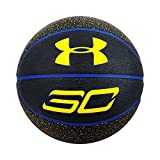 Under Armour Stephen Curry Outdoor Basketball, Black/Yellow, Official