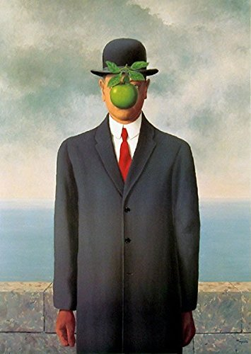 Rene Magritte Oil Painting Replica of The Son of Man, 100% Hand Painted on Canvas Good Quality Art Decor for Home Wall - Canvas Replica Painting