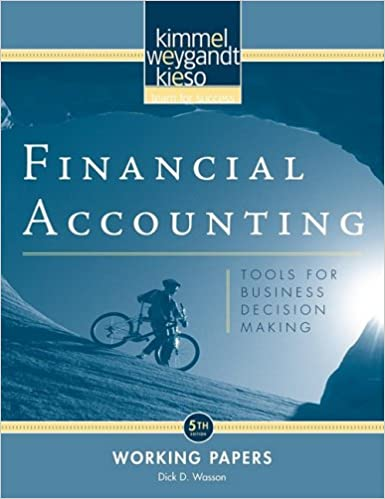 Book Financial Accounting, Working Papers: Tools for Business Decision Making