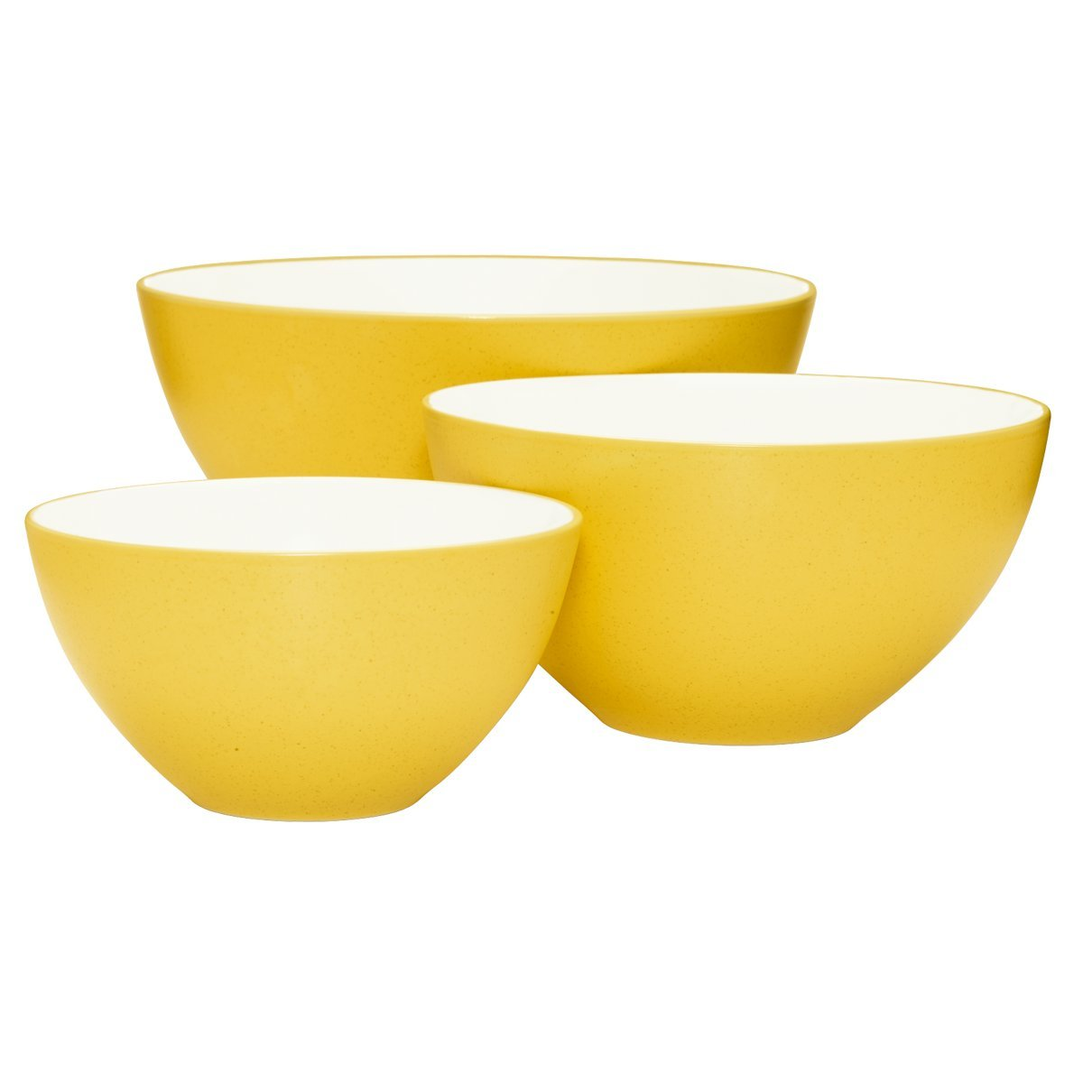 Noritake Colorwave Mustard Bowl Set, 3-piece