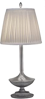 product image for Stiffel BL-A965-PW One Light Buffet Lamp, Pewter Finish with Off White Camelot Side Pleat Shade