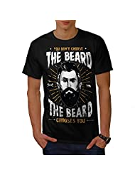 Don't Choose Beard Facial Hair Men NEW Black S-5XL T-shirt | Wellcoda