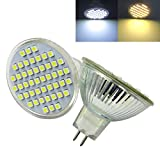 ZHENMING Pack of 6,MR16 GU5.3 LED Bulb 12V -24V 3W 380 Lumens Super bright 48pcs 3528 SMD LED Spotlight Ceiling lamp Landscape Bulb Wall lamp (Warm White)