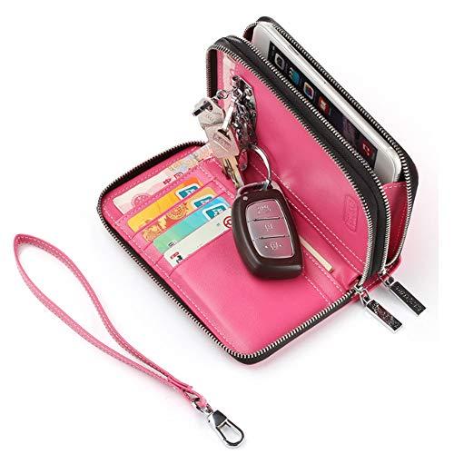 De Mujer Teléfono Móvil Funda Multifunción Cuero Scsy Pequeño Cruzado Monedero Llaves Y Para Bolso Embrague Pink bags Exquisito AnXqR8w