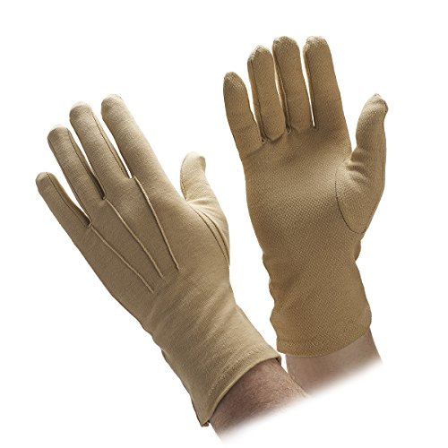 Beaded Cotton Gloves Extra Long in Black, White or Tan (Skin) Color (Small, Tan)