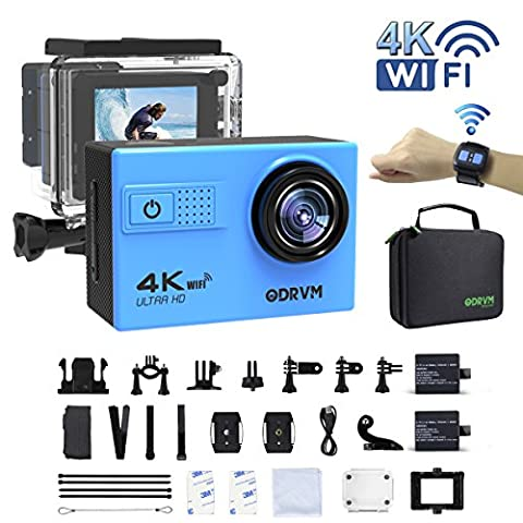 4K WIFI Action Camera Remote Waterproof 30m Underwater Camera Ultra HD 20MP Water Camera With 18 Accessories Kits for Diving,Surfing,Snorkeling,Skiing,Motorcycle,Kids and Water (Waterproof Camera With Zoom)