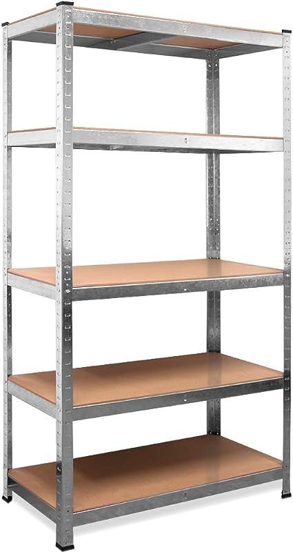 Deuba Estantería de metal de 5 niveles estantes de almacenaje - bricolaje 180x90x40 cm carga máxima de 875kg taller