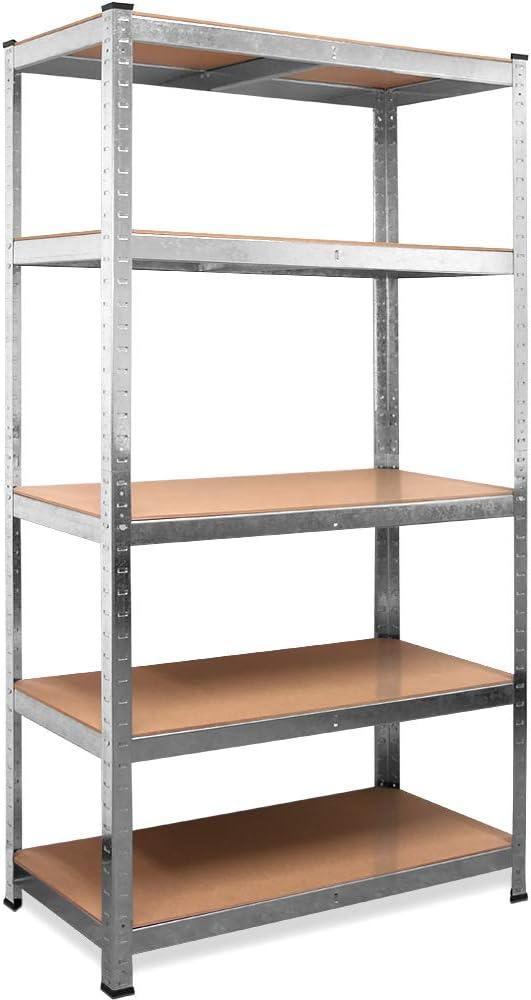 Steckregal 180x50x30 cm verz 6 Böden Kellerregal Lagerregal Metallregal Regal