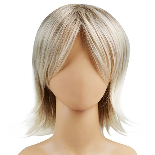 Ecvtop Wigs for Mens' Death Note Male Short Hair Wig Costume Cosplay Wigs (Blonde)