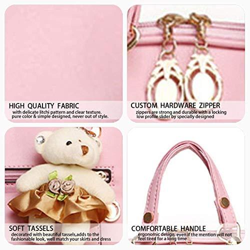 Púrpura Eeayyygch Para color Mochila Pu Hombro De Portátil Rosado Mujer Escolar Bolsos Bolsa Cuero fZTqx1pfw