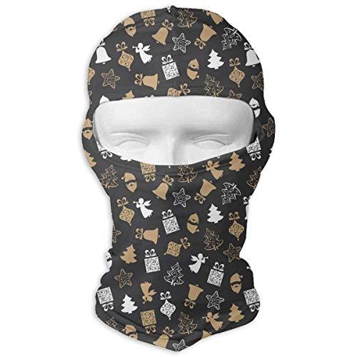 HANBINGPO Angel Christmas Tree Bell Gift Men Women Balaclava Neck Hood Full Face Mask Hat Sunscreen Windproof Breathable ()