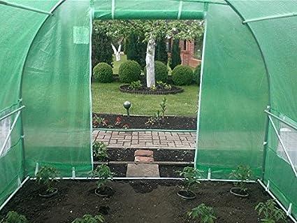 Garden Point Un Invernadero 3 x 2 x 2 m Invernáculo de Polietileno con Marco de Acero Galvanizado de Circunferencia 25 mm (Verde)