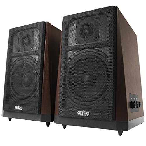 Find a Arion Legacy AC Powered Studio Quality 2.0 Speakers with Vintage Inspired Trapezoid Shape 80W RMS (AR604)