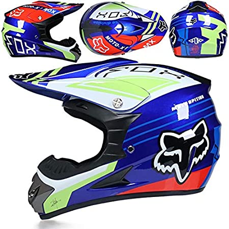 Color : F, Size : L XXXZZ Carreras de Motocross Casco de la Motocicleta Dot Casque Moto Moto Capacete Casco Campo a trav/és de la Cara Completa de la Vendimia Motocross Casco Mujeres 3 Regalos