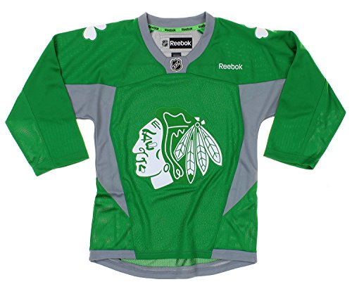 NHL Chicago Blackhawks Youth Boys St. Patrick's Day Green Replica Jersey
