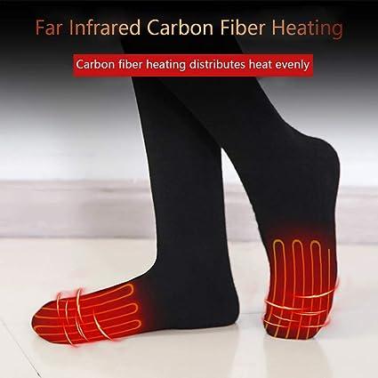 332 pageann calcetín calefactora Recargables eléctrico a Pilas – Calcetín térmico socquette Invierno Mujer Sport Negro