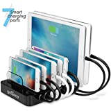 gofanco® 7-Port Desktop USB Charging Station for fast charging smart phones, tablets and wearable devices - iPhone, iPad, Samsung Galaxy, LG, Nexus, HTC and others