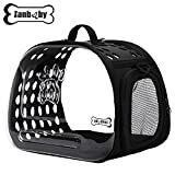 Cheap Pet Products Transparent Pet Carrier Breathable Portable Foldable Travel Kennel for Small or Medium Cat, Dog Breed with EVA Material Soft-Side Hard Cover Handbag Puppy Carrying Shoulder Bags (BLACK)
