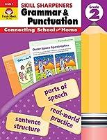 Evan-Moor Skill Sharpeners Grammar and Punctuation Grade 2, Full-Color Activity Book - Supplemental Homeschool Workbook
