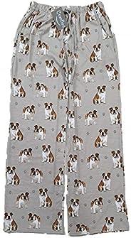 E & S Imports Women's Bulldog Dog Lounge Pants - Pajama Pants Pajama