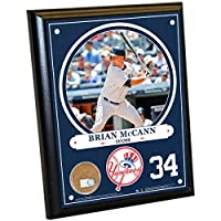 "MLB New York Yankees Brian McCann Plaque with Game Used Dirt from Yankee Stadium, 8"" x 10"", Navy"